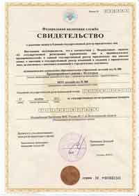Свидетельство о гос.регистрации ип образец