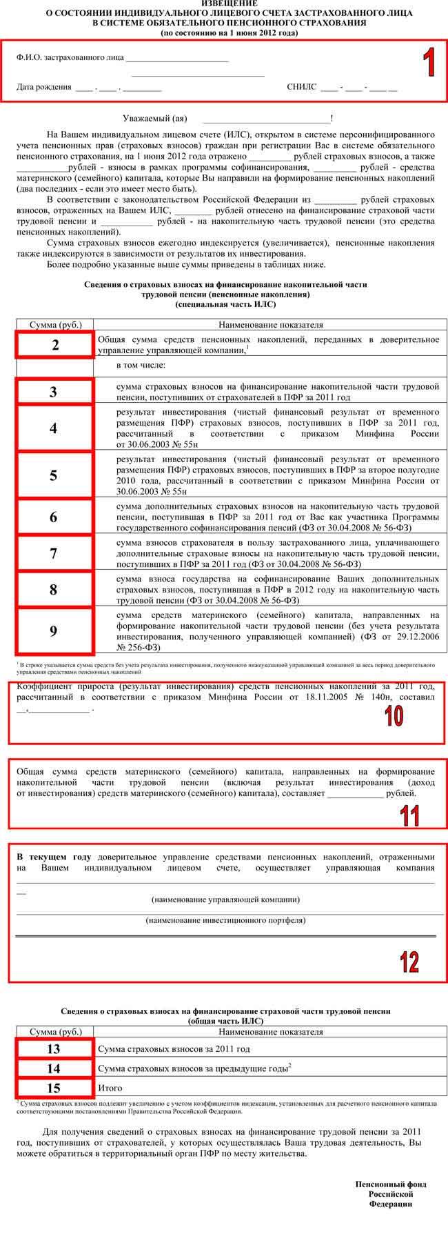 список застрахованных лиц пфр бланк
